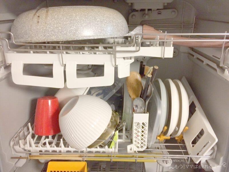 食器を食洗機にセットしたところ